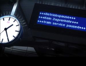 kein Zugverkehr