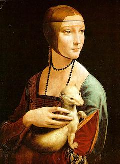 Dame mit dem Hermelin (Porträt der Cecilia Gallerani)