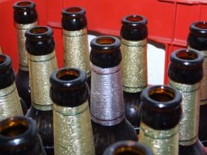 Bierflaschen als potenzielle Wurfgeschosse