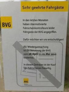 Falsches BVG Plakat